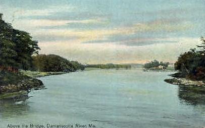 Damariscotta River - Maine ME Postcard