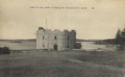 Fort William Henry - Damariscotta, Maine ME Postcard