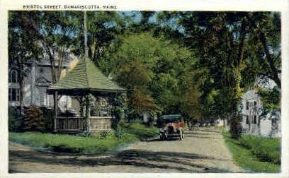 Bristol St. - Damariscotta, Maine ME Postcard