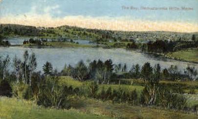 The Bay  - Damariscotta, Maine ME Postcard