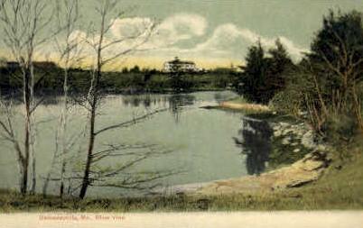 River - Damariscotta, Maine ME Postcard