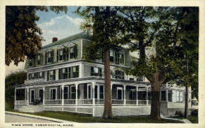 Fiske House - Damariscotta, Maine ME Postcard