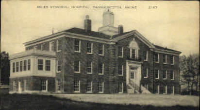 Miles Memorial Hospital - Damariscotta, Maine ME Postcard