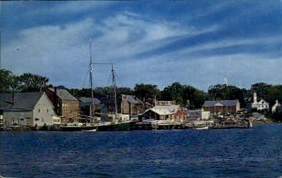 Waterfront - Damariscotta, Maine ME Postcard