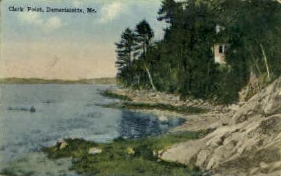 Clark Point - Damariscotta, Maine ME Postcard