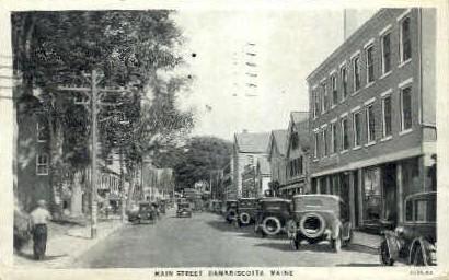 Main St. - Damariscotta, Maine ME Postcard