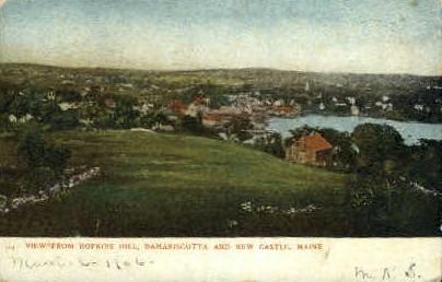Hopkins Hill - Damariscotta, Maine ME Postcard