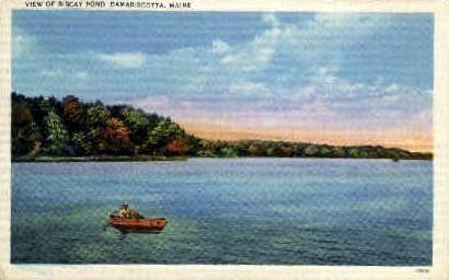 Biscay Pond - Damariscotta, Maine ME Postcard