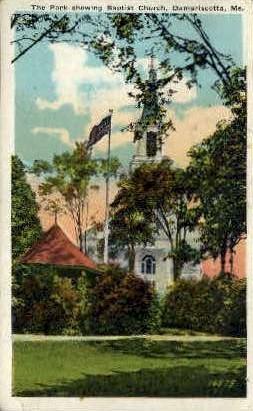 Baptist Church - Damariscotta, Maine ME Postcard