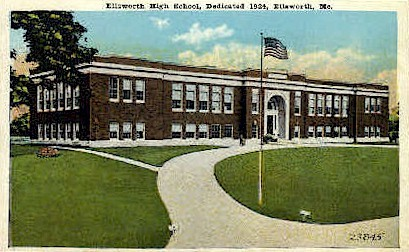 Ellsworth High School - Maine ME Postcard