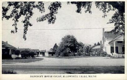 Bancroft Motor Court - Ellsworth, Maine ME Postcard