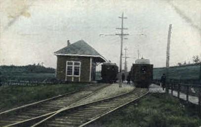 Atlantic Shore Line Junction - Eliot, Maine ME Postcard