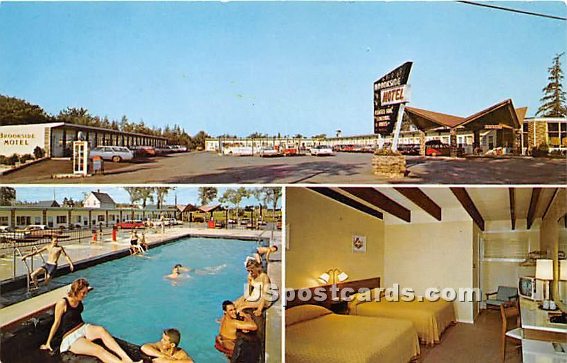 Brookside Motel - Ellsworth, Maine ME Postcard