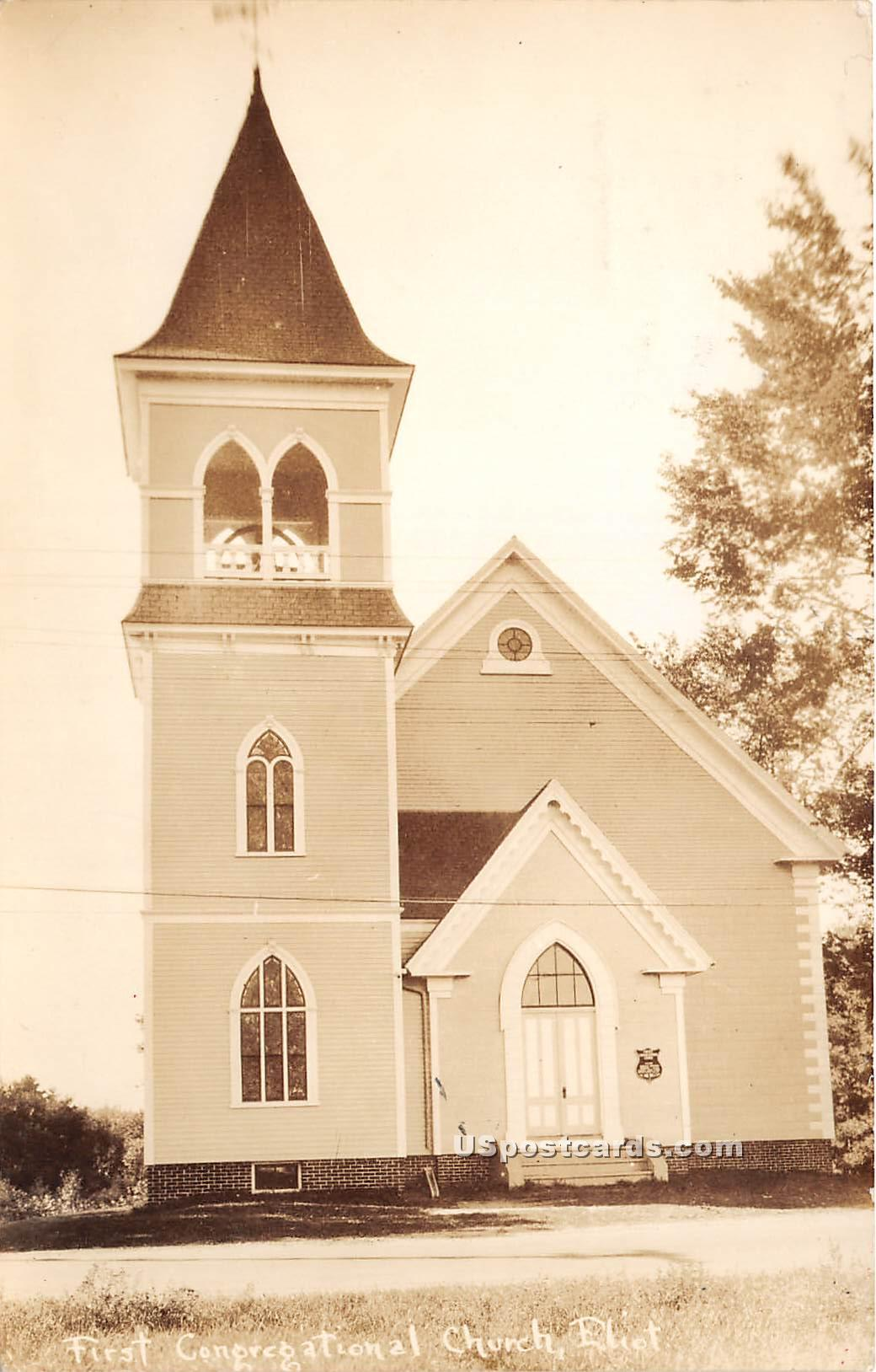 First Congregational Church - Eliot, Maine ME Postcard