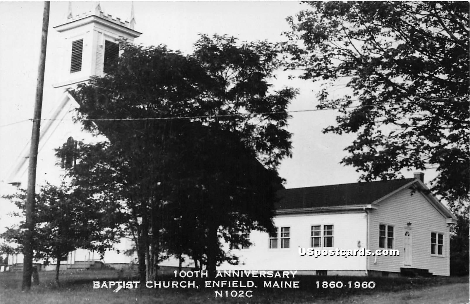 Baptist Church - Enfield, Maine ME Postcard