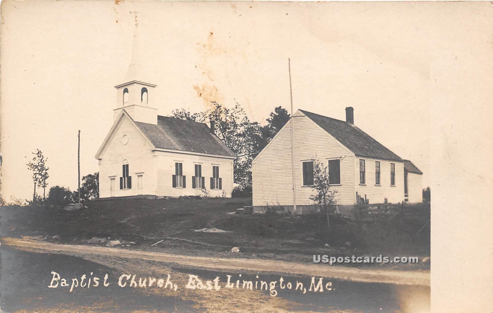 Baptist Church - East Limington, Maine ME Postcard