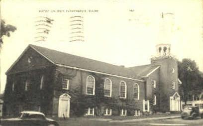 Baptist Church - Farmington, Maine ME Postcard