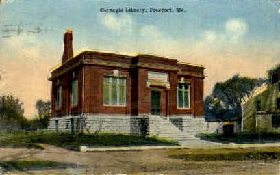 Carnegie Library - Freeport, Maine ME Postcard