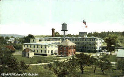 Factory - Freeport, Maine ME Postcard