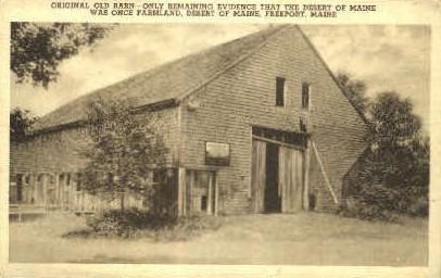 Old Barn, Desert of Maine - Freeport Postcard