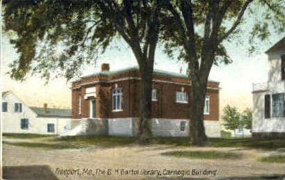 The B.H. Bartol Library - Freeport, Maine ME Postcard