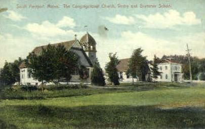 The Congregational Church - Freeport, Maine ME Postcard