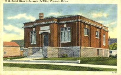 B.H. Bartol Library - Freeport, Maine ME Postcard