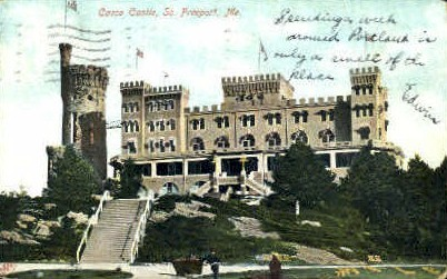 Casco Castle - Freeport, Maine ME Postcard