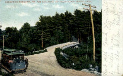 On the Road to Underwood Spring Park - Falmouth Foreside, Maine ME Postcard