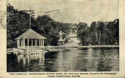 The Lookout, Underwood Motor Camp - Falmouth Foreside, Maine ME Postcard