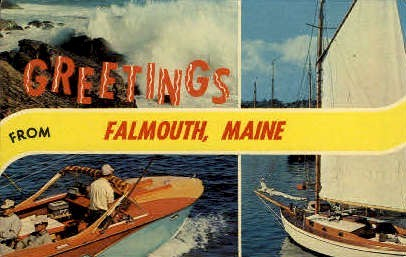 Underwood Casino - Falmouth Foreside, Maine ME Postcard