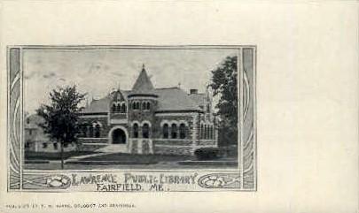 Lawrence Public Library - Fairfield, Maine ME Postcard