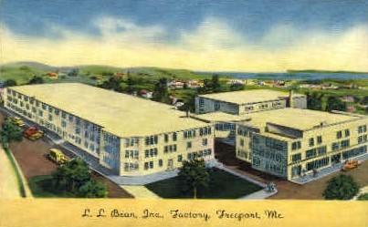 L.L. Bean Inc. Factory - Freeport, Maine ME Postcard