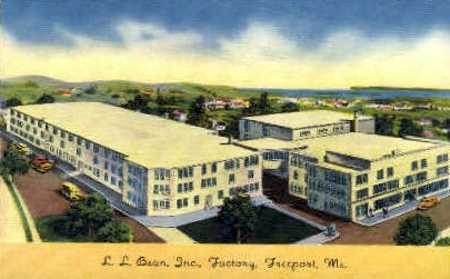 L.L. Bean Inc. Factory - Freeport, Maine ME Postcard