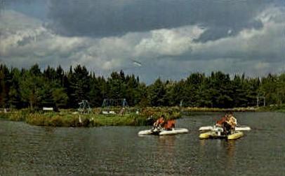 Pedal Boats, Florida Lake - Freeport, Maine ME Postcard