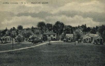 Dutch Village - Freeport, Maine ME Postcard