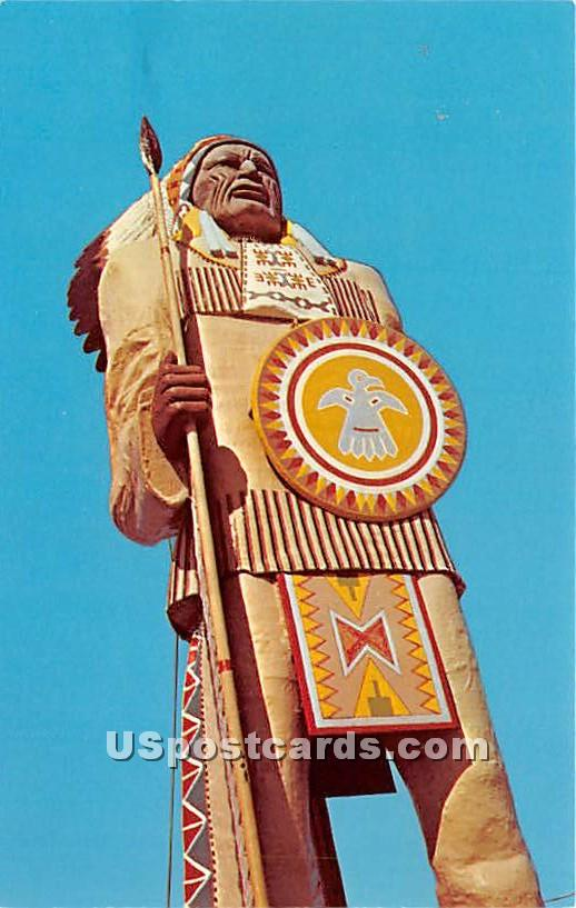 Chief Passamaquoddy - Freeport, Maine ME Postcard