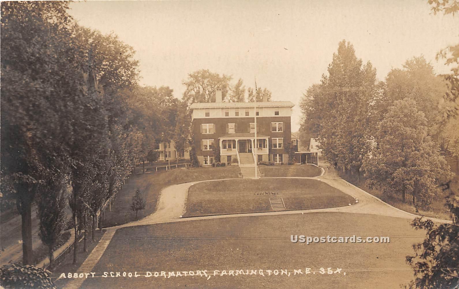 Abbott School Dormitory - Farmington, Maine ME Postcard