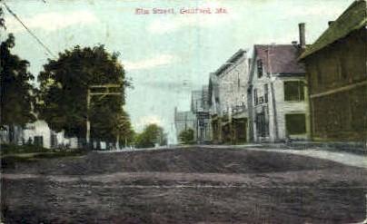 Elm St. - Guilford, Maine ME Postcard