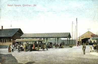 Depot Square - Gardiner, Maine ME Postcard