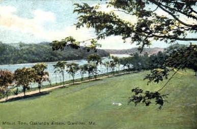 Mount Tom, Oakland's Estate - Gardiner, Maine ME Postcard