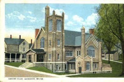 Shrine Club - Gardiner, Maine ME Postcard