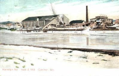Randolph Ice House & Mill - Gardiner, Maine ME Postcard