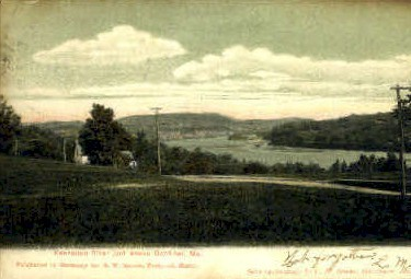 Kennebec River - Gardiner, Maine ME Postcard