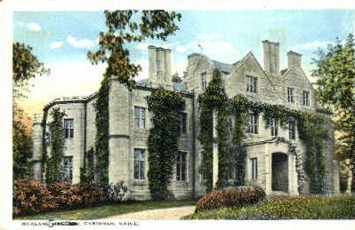 Oakland Mansion - Gardiner, Maine ME Postcard