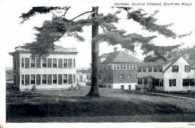 Gardiner General Hospital - Maine ME Postcard