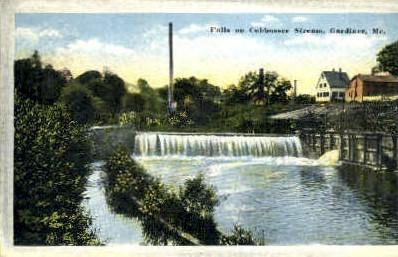Falls - Gardiner, Maine ME Postcard