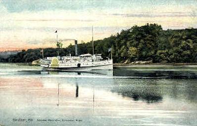 Steamer Kennebec - Gardiner, Maine ME Postcard