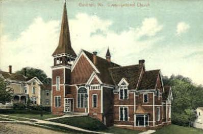 Congregational Church - Gardiner, Maine ME Postcard