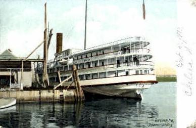 Steamer Landing - Gardiner, Maine ME Postcard